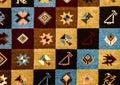 Romanian folk seamless pattern ornaments. Romanian traditional embroidery. Ethnic texture design. Traditional carpet design. Carpe Royalty Free Stock Photo