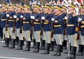 Romanian guard of honour pictured during the celebration romania s national day in bucharest Royalty Free Stock Image