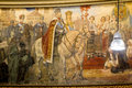 Romanian history the interior from athenum historical scene with king carol i voivode Royalty Free Stock Image