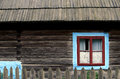 Romanian house wooden traditional with garden fence in maramures area Stock Images
