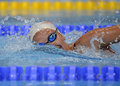 Romanian international swimming championships swimmer compete during the held between th and th of july at dinamo sports venue Stock Photos