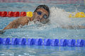 Romanian international swimming championships swimmer compete during the held between th and th of july at dinamo sports venue Royalty Free Stock Photo