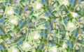 Romanian money background lei leu banknotes Stock Image