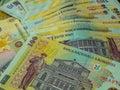 Romanian money ron background