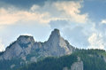 Romanian mountain landmark the lady stones one of the peak in the carpathians Royalty Free Stock Image