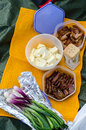 Romanian picnic food for hiker s Stock Photo