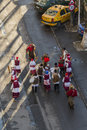 Romanian ritual the bear dance performed around christmas eve bucharest romania december by participants with bells whips and Stock Image
