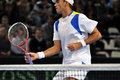 Romanian tennis player Horia Tecau in action at a Davis Cup match Royalty Free Stock Photos