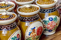 Romanian traditional ceramics ceramic pots for corund area romania Stock Image