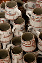Romanian traditional clay cups Royalty Free Stock Photos