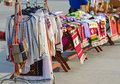 Romanian traditional clothes for sale on the streets of craiova romania Stock Photo