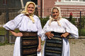 Romanian traditional costume-Folk of Maharashtra Stock Photos