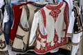 Romanian traditional costumes from banat area Stock Image