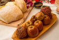 Romanian traditional food and pottery Royalty Free Stock Image