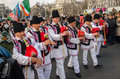Romanian traditional music artists performing saint patrick day bucharest romania march th Stock Photos