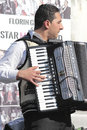 Romanian traditional musician a at a fair in bucharest Royalty Free Stock Images