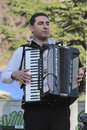 Romanian traditional musician a at a fair in bucharest Royalty Free Stock Photos