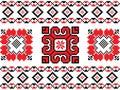 Romanian, Ukrainian, Belarusian red embroidery seamless pattern