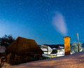 Romanian village under the stars Royalty Free Stock Photo