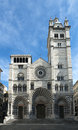 The romanic cathedral of genoa italy ligurian Stock Photography
