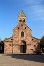 Romanic church in alsace of sigolsheim Royalty Free Stock Photo