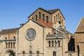 Romanic church in barcelona spain Stock Photos