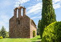 Romanic church montseny sant pere despla th century in the natural park catalonia spain Royalty Free Stock Images