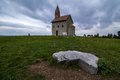 Romanic church in the slovakia Stock Photo