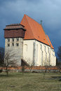 Romanic church of sv jilji historic in milevsko czech republic Stock Image