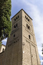 Romanic monastery of sant miquel in barcelona poble espanol spanish village this is a replica integrating various catalonian Royalty Free Stock Photo
