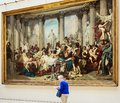 The Romans of the Decadence Thomas Couture. Musee Orsay Royalty Free Stock Photo