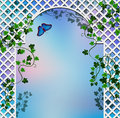 Romantic arbor background with entwined with ivy Royalty Free Stock Photos