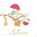 Romantic autumn card Stock Photo