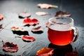 Romantic Autumn Cup Of Tea Wit...
