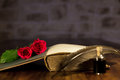 Romantic background for a novel with rose Stock Photo