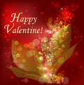 Romantic background vector illustration of red valentine Royalty Free Stock Photography