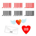 Romantic barcodes Stock Image