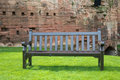 Romantic bench paceful park spring Royalty Free Stock Images