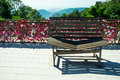 Romantic bench on pinang hill malaysia photo of the Stock Photos