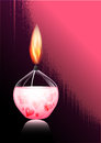 Romantic candle evening heart star love card in grunge style inviting bright flame of a gel valentine s day Royalty Free Stock Image