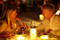 Romantic candle light dinner Royalty Free Stock Image
