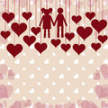 Romantic card background vector illustration of a Stock Photo