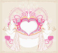 Romantic card with love birds illustration Stock Images