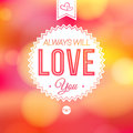 Romantic card on a soft blurry background vector image and lettering can be used together or separately Stock Photos