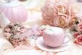 Romantic Coffee Set Royalty Free Stock Photo