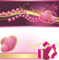 Romantic composition. Two banners Stock Photo