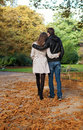 Romantic coouple in the Luxembourg garden Royalty Free Stock Photography