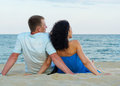 Romantic couple on the beach Royalty Free Stock Photos