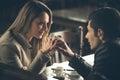 Romantic couple dating Royalty Free Stock Photo