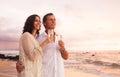 Romantic Couple Drinking Champ...